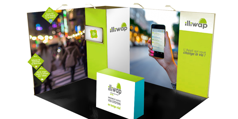 Illiwap - habillage de stand